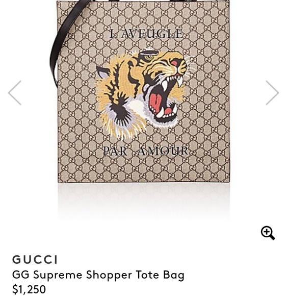 6d701017f83f3d Gucci Bags | Gg Supreme Shopper Tote Bag | Poshmark
